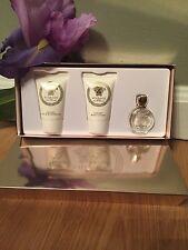 3Pc Set Versace Eros Pour Femme Edp Mini Perfume, Body Lotion, Shower Gel .Nib