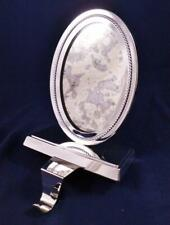 Pottery Barn Oval Mirror Christmas Stocking Holder Hanger Antique Silver Finish