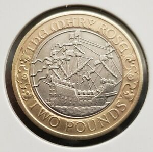 2011 THE MARY ROSE 2pound Coin Great Condition FREE COIN CAPSULE