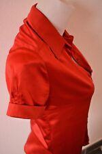 Mango MNG femme chemisier top haut chemise rouge 36-S-XS TBE !