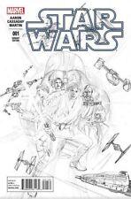 STAR WARS ISSUE 1 - MARVEL COMICS - RARE ALEX ROSS 1:200 RETAILER SKETCH VARIANT