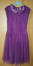 Next girl's embellished lace occasion dress size 11 years Colour Red grape