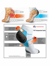 Compression Socks Plantar Fasciitis Long Air Travel Foot Heel Pain Relief L/XL