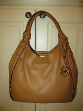 MICHAEL KORS BEDFORD ACORN BROWN BELTED LARGE SHOULDER TOTE BAG PURSE NWT