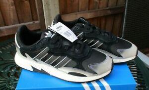 Mens Adidas Tresc Run Trainers Adidas Originals UK 9.5 Black Grey Silver BNIB