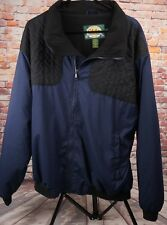 Cabelas Mens Size XLarge Reg Zipper Front Polyester Fleece Lined Jacket Blue