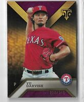 2016 Topps triple threads baseball amethyst parallel Yu Darvish 292/340