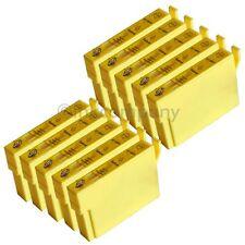 10 kompatible Tintenpatronen gelb für den Drucker Epson BX305FW S22 SX230