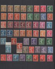 1906-1940 - Lot Semeuses fond plein neufs et neufs avec charnière (03-049.18)