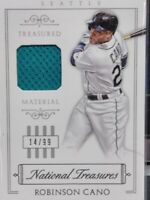 ROBINSON CANO SEATTLE MARINERS 2015 NAT'L TREASURES TREASURED MATERIAL SP 14/99