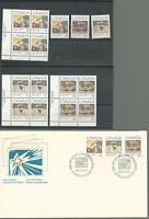 CANADA 1980 CHRISTMAS Sc # 870-72, 3 P/B'S & SINGLES MNH & FDC FREE USA SHIPPING