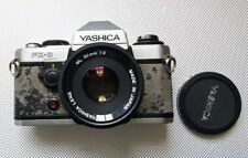 Yashica Fx-D Quartz 35mm Slr Film Camera With Yashica Mc Zoom 35-70 3.5-4.5 Lens