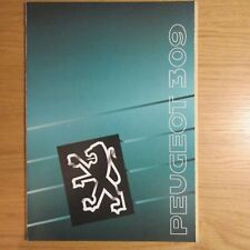 Peugeot 309 Estilo XL GL GLX Gr Grd GRI grdt GTI 3 5 puertas Folleto de mercado del Reino Unido 1989