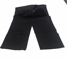 Alexandra Workwear Unisex Black Teflon Coated 100% Cotton Work Trouser - Small