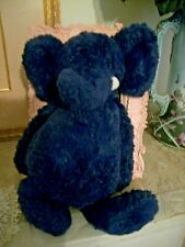 "Jellycat  Elephant BASHFUL Plush Blue   Soft Stuffed Animal 12"" London"