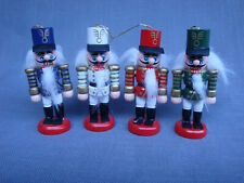 Nutcracker Ornament - Painted and Embellished Wood - Hanging Christmas Ornament