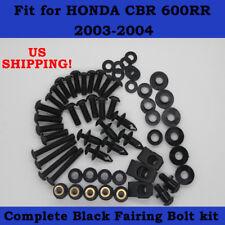 Complete Screws Black Fairing Bolt Kit fit for HONDA 2003-2004 CBR600RR F5