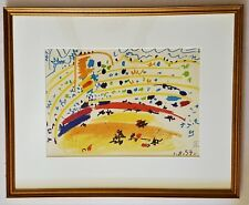PABLO PICASSO Original 9 Color Lithograph BULL RING RONDA Museum Framing