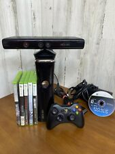 Xbox 360 S Console With 6 Games/ 1Controller And Kinect*Tested And Working*