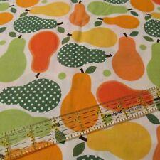 Cotton Fabric Metro Market Robert Kaufman Pear Kitchen dotty BTHY green orange