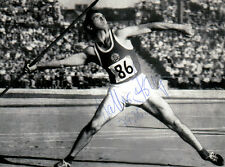 Walter Krüger ,DDR Silber Olympia 1960 Rom Speerwurf original signiert/signed !