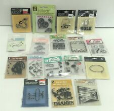 Studio G HOLIDAYS SCHOOL Mini Clear Rubber Stamps Lot of 17