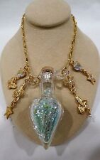 NEW KIRKS FOLLY Fairy Dust Bottle NECKLACE Goldtone
