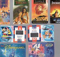 Walt Disney Phone Card Lot 8 Mickey Lion King Hercules TARZAN POCAHONTAS WORLD