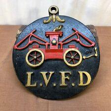 Vintage Cast Iron L.V.F.D Fire Department Plaque Las Vegas