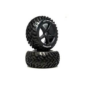 Duratrax 1/8 BADGER Truggy Tire C2 Mounted 0 Offset (2)