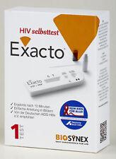 HIV Selbsttest Exacto Test Schnelltest Heimtest, HIV AIDS home quick test, NEU