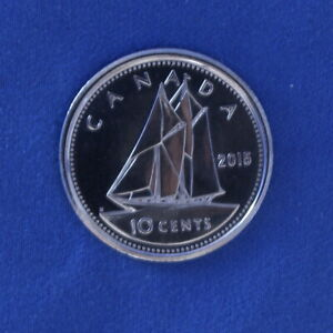 Canada 2015 Dime from a Mint Roll