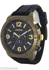 Fossil Gents Vintage Bronze Chronograph Silicone Strap Watch DE5007