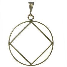 NA Narcotics Anonymous Jewelry, Symbol Pendant, #1156 Extra Large Size, Brass