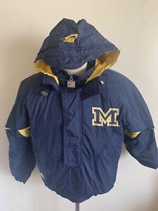 VTG Nike Michigan Wolverines Hooded Coat Jacket 90's Small