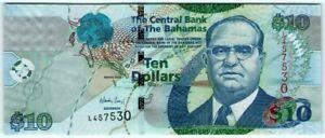Bahamas 10 Dollars 2009 🔸UNC🔸 Banknote - k193