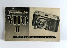 Voigtlaender Vito II Instruction Book, 22 pages