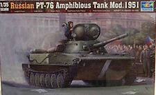 Trumpeter 1/35 Russian PT-76 Amphibious Tank Mod 1951 Model Kit 379