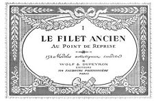 Filet Ancien #1 c.1914 French Filet Lace Chart Book Enlarged Size 11 x 17""