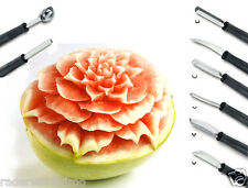 Classic Garnishing Tools Chef Carving Tools Set Melon Baller with Bag Total 8PCS