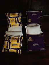 Lsu Tigers Louisiana State Corn Hole Baggo Bean Bag Toss 8 Bags Purple Gold