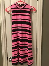 NWT Justice Pink Striped Dress Neck Size 12-14