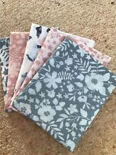 Fat Quarter Bundle Pinks/Blues Floral Polycotton