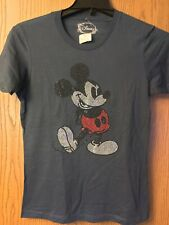 Mickey Mouse.   Shirt.   Blue.  Studded.  New With Tag.   L