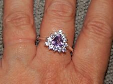 AMETHYST & NATURAL CAMBODIAN ZIRCON RING-SIZE P-2.00 CARATS-STERLING SILVER 925