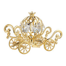 Swarovski Crystals Studded Cinderella Pumpkin Coach Carriage 24K Gold Plated