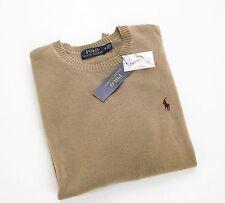 *NEW* with tags $325 Polo Ralph Lauren Tan Crewneck Cashmere Sweater mens Medium