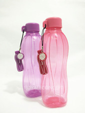 Tupperware Water Bottle 16oz & Liquid Tight Screw Top Purple & Pink + Charms New