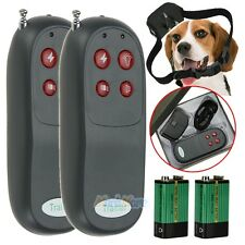 2X 4In1 Remote Small/Med Dog Training Shock Vibrate Collar Trainer Safe For Pet