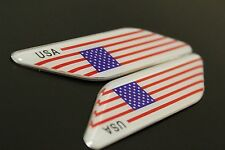 Metal Emblem Badge Decal Car Fender Side Logo Sticker American Flag USA